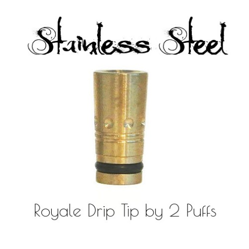 Stainless Steel Royale Drip Tip by 2Puffs