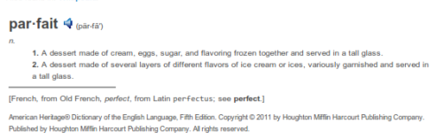 definition of parfait by The Free Dictionary